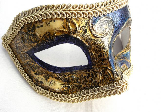 Genuine Venetian Designer Crackle Mask (1)